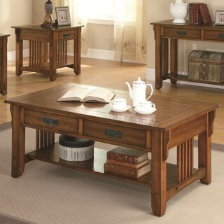 Alcantara Transitional Slated Wooden Coffee Table with Storage by Darby Home Co