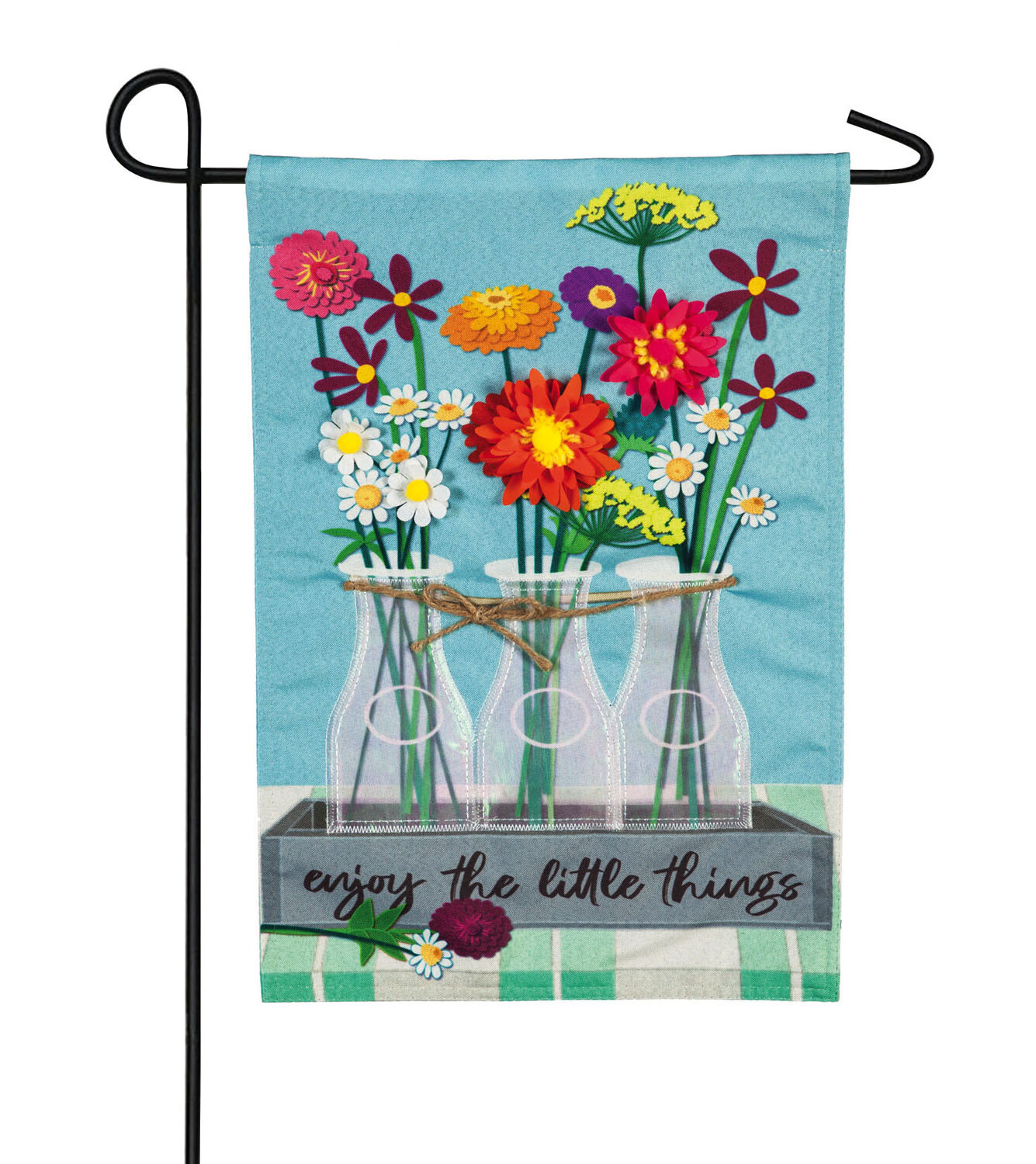 Evergreen Enterprises Inc Floral Milk Bottle Trio 2 Sided Linen 18 X 13 In Garden Flag Wayfair