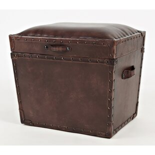 Carroll Leather Storage Ottoman
