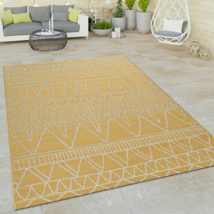 Indurial Flatweave Yellow Rug By World Menagerie
