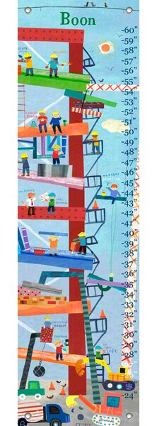 Oopsy Daisy Construction Personalized Growth Chart Wayfair