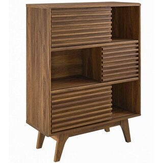 Wigington 3-Tier Display Storage 3 Door Accent Cabinet by George Oliver SKU:DE640019 Guide