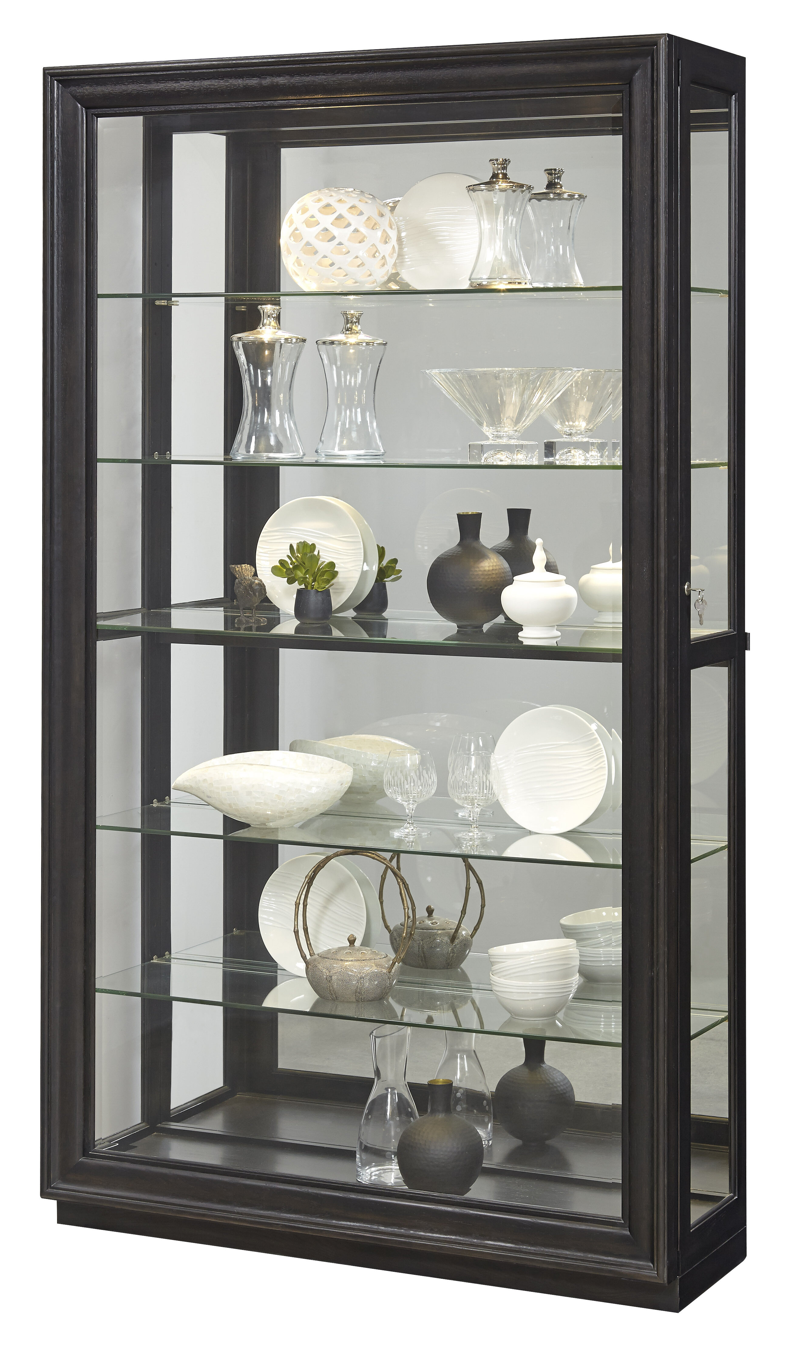 Darby Home Co Albrightsville Lighted Corner Curio Cabinet ...