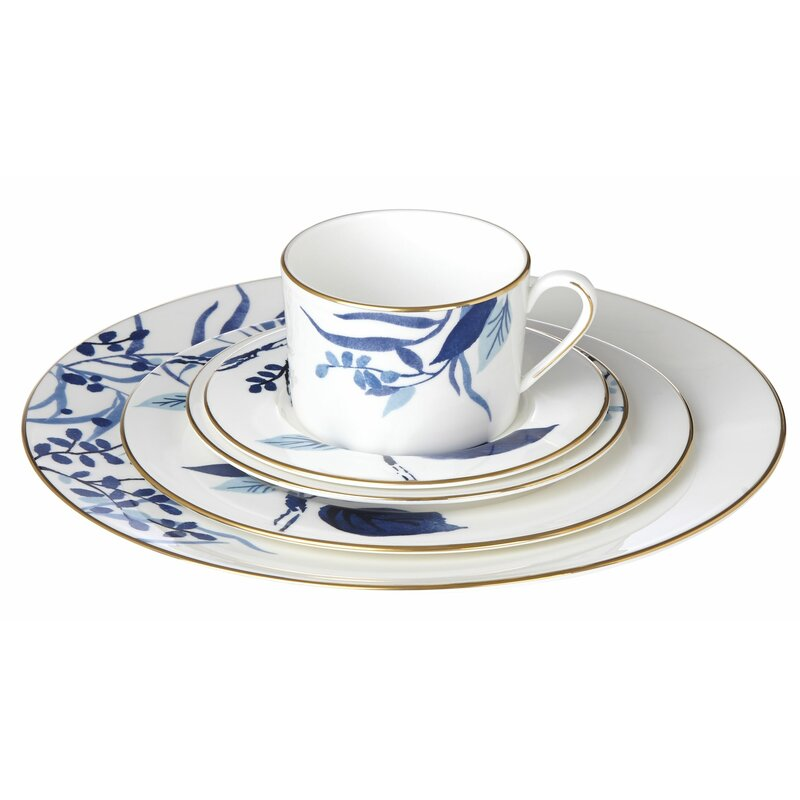 Birch Way 5 Piece Bone China Place Setting, Service For 1 by Kate Spade New York