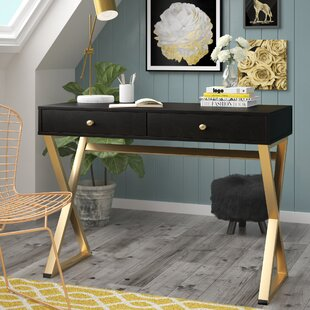 Dayne Solid Wood Writing Desk by Willa Arlo Interiors