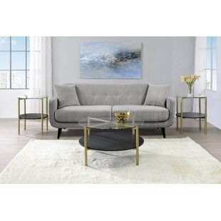 Mercer41 Daugherty 3 Piece Coffee Table Set