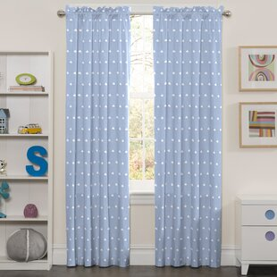 Glazer Clouds Blackout Thermal Rod Pocket Single Curtain Panel