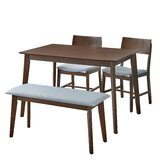 Fortunata 4 Piece Dining Set by Wrought Studio™