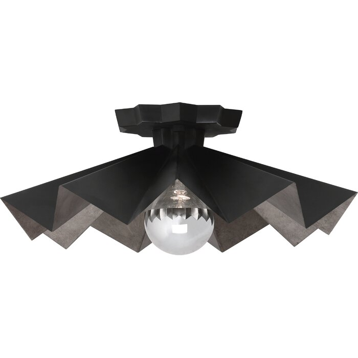 Rico Espinet Bat 1 Light Semi Flush Mount