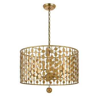 Whitby 4 Light Shaded Drum Chandelier Reviews Allmodern