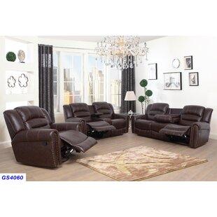 Kora 3 Piece Reclining Living Room Set by..