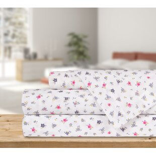 Rudd 4 Piece Tiny Floral Flannel Sheet Set