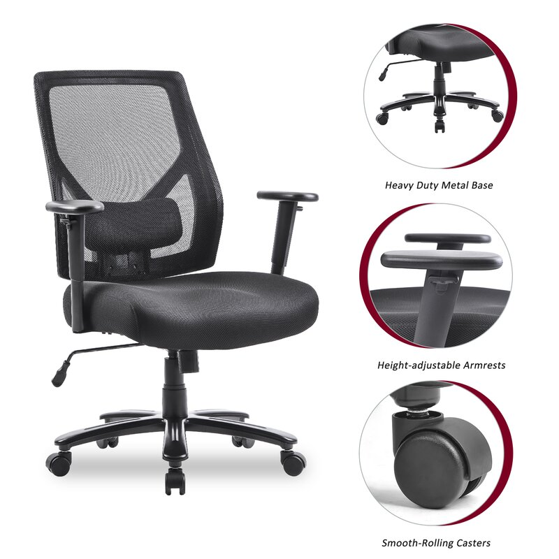 Inbox Zero Fitzmaurice Home Office Mesh Task Chair Wayfair