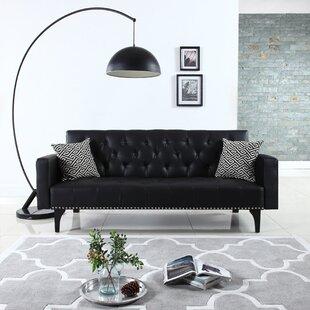 Rathbun Modern Tufted Reclining Sleeper Sofa Wrought Studio