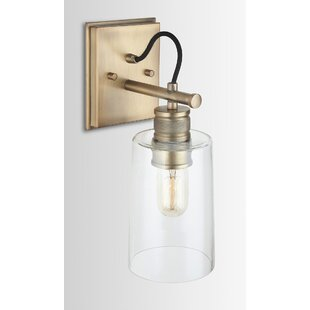 Consuelo Glass 1-Light Armed Sconce by Wrought Studio