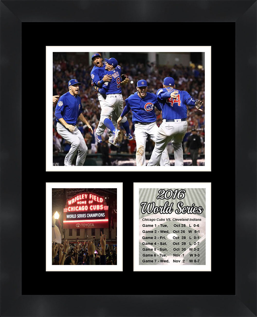 Frames by Mail Chicago Cubs 2016 World Series Framed Photo White
