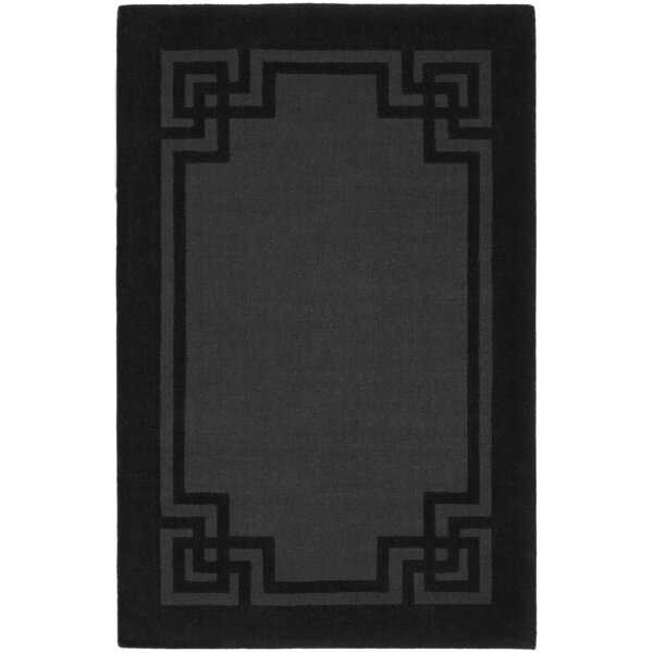 Martha Stewart Rugs Martha Stewart Deco Frame Phantom Greek Key Hand Tufted Black Gray Area Rug Wayfair