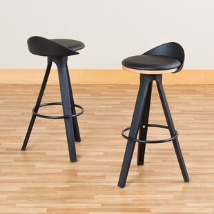Heanor Low-Back Café 30 Bar Stool (Set of 2) Wrought Studio