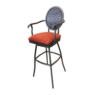 Adelle 35 Patio Bar Stool with Cushion by Tobias Designs