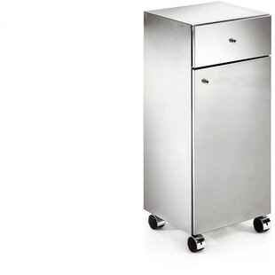 Sison Runner Standing Steel Mobile Wheel Storage Cabinet by Orren Ellis Today Only Sale