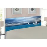 Sailboat Upholstered Panel Headboard by East Urban Home