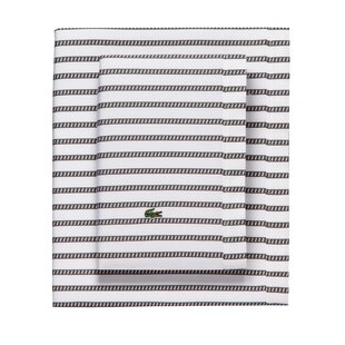 Graphic Percale Printed 100% Cotton Striped Sheet Set