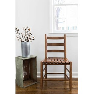 Thor Ladder Back Solid Wood Dining Chair Gracie Oaks