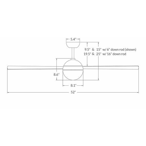 Modern Fan Company 52 Quot Ball 4 Blade Ceiling Fan With