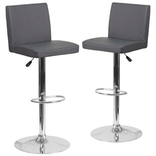 Nobles Adjustable Height Swivel Bar Stool (Set Of 2) by Orren Ellis Bargain