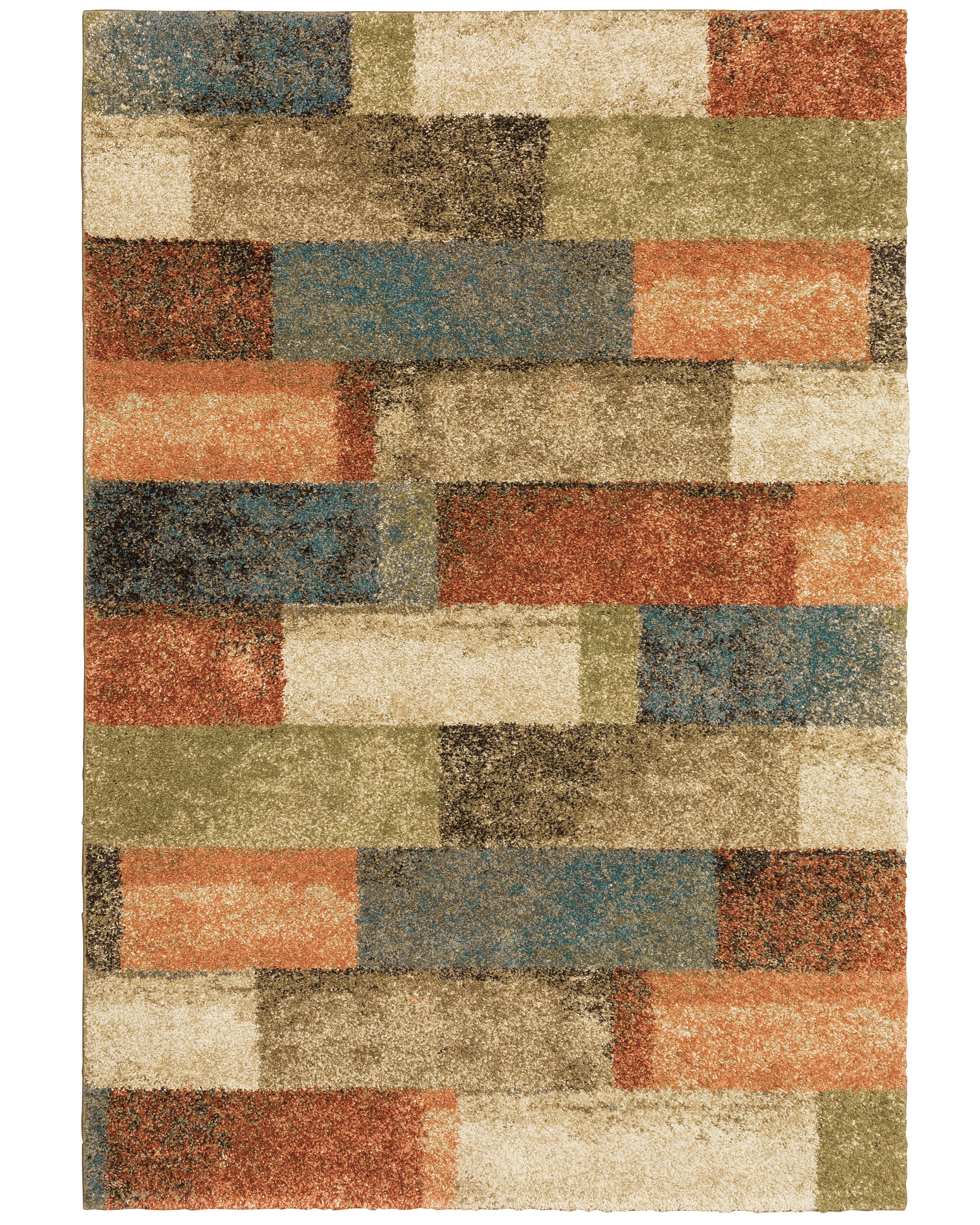 Latitude Run® Tigela Geometric Orange/Green Area Rug | Wayfair