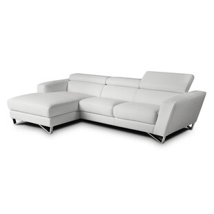 Downingtown Leather Sectional with Ottoman
