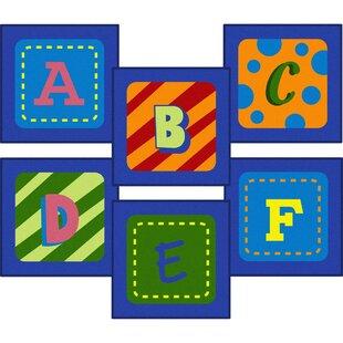 Comparison Allerdale Alphabet Sitting Blue Area Rug ByZoomie Kids