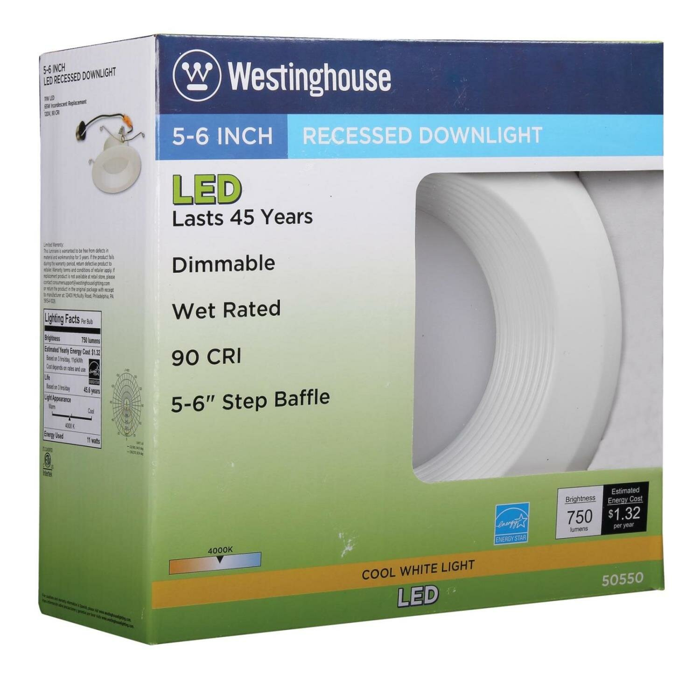 westinghouse lighting 5 6 led recessed lighting kit wayfair