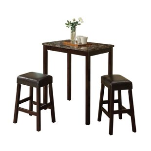 Krupp 3 Piece Counter Height Dining Set by Charlton Home