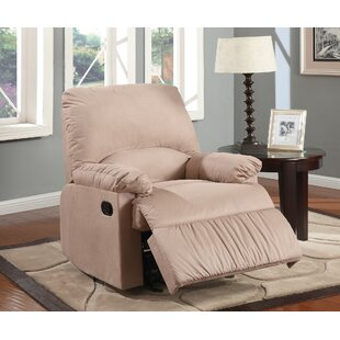 Jarne Contemporary Plush Padded Glider Manual Recliner