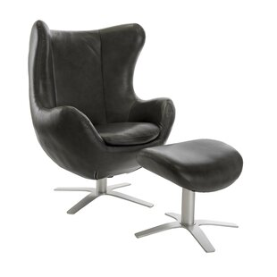Mims Swivel Wingback Chair and Ottoman by Wade Logan