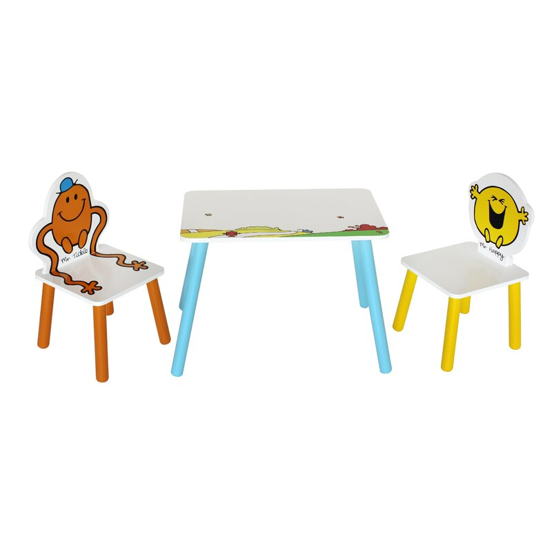 Zoomie Kids Janell Children S 3 Piece Table And Chair Set
