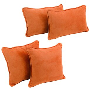 Karin 4 Piece Microsuede Pillow Set by Zipcode Design