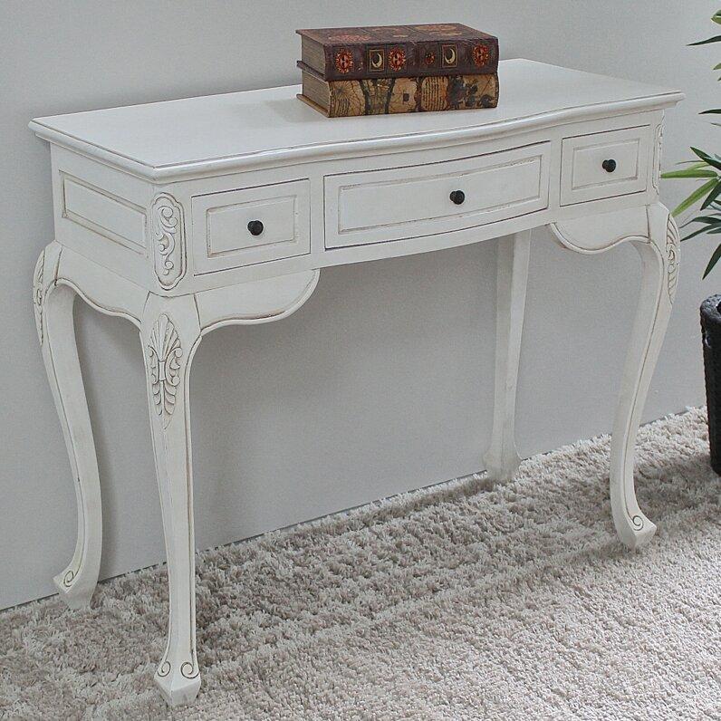 Lepore Hand Carved Wood Antique Vanity Desk - Lark Manor Lepore Hand Carved Wood Antique Vanity Desk & Reviews