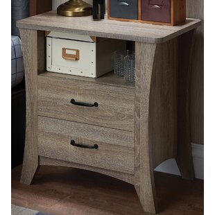 Overstreet 2 Drawer Nightstand by House of Hampton