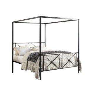 Bradan Queen Low Profile Canopy Platform Bed by Gracie Oaks