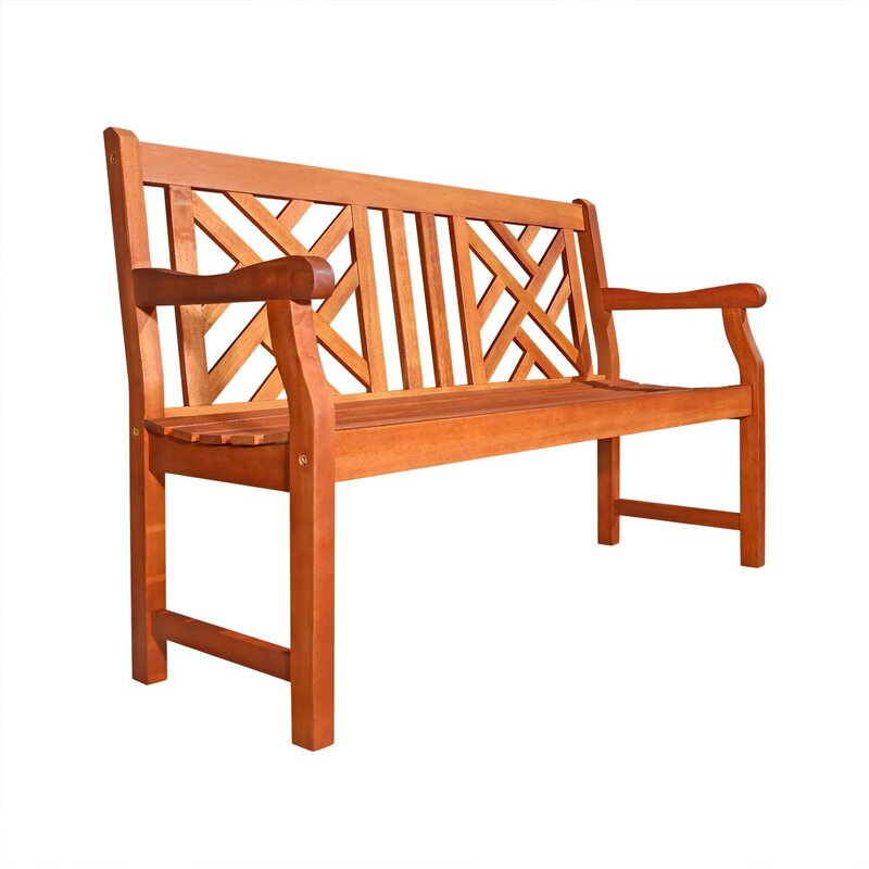 Stephenie Wooden Garden Bench