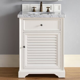 Osmond 26 Single Ceramic Sink Cottage White Bathroom Vanity Set by Greyleigh