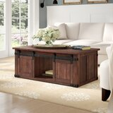 Rosa Solid Wood Coffee Table with Storage by Laurel Foundry Modern Farmhouse