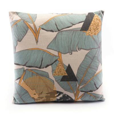 Blue//Orange TELAVC8089DI24 KAVKA Designs Mestara Accent Pillow, Size: 24X24X6 - - Navajo Collection