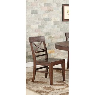 Anteus Rustic X Back Dining Chair (Set of 2) by Gracie Oaks SKU:BD293304 Price Compare