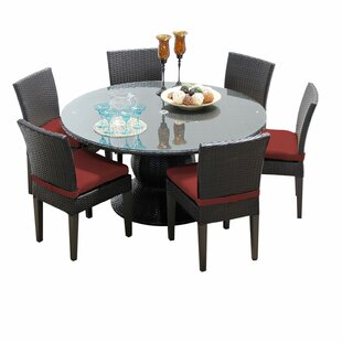 Meier 7 Piece Dining Set with Cushions by Rosecliff Heights
