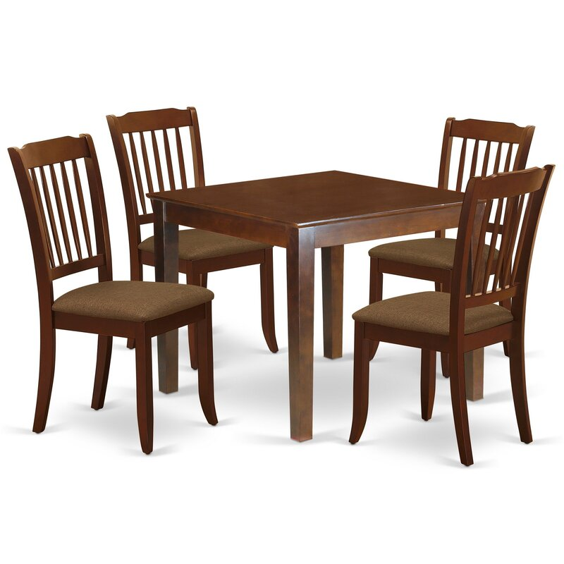 Winston Porter Aysegul 5 Piece Solid Wood Dining Set Wayfair
