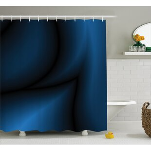 Navy Light Deep Ocean Sealife Single Shower Curtain