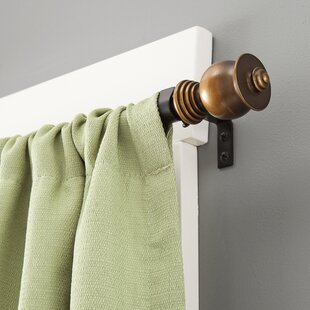 Parker Single Curtain Rod and Hardware Set by Kenney